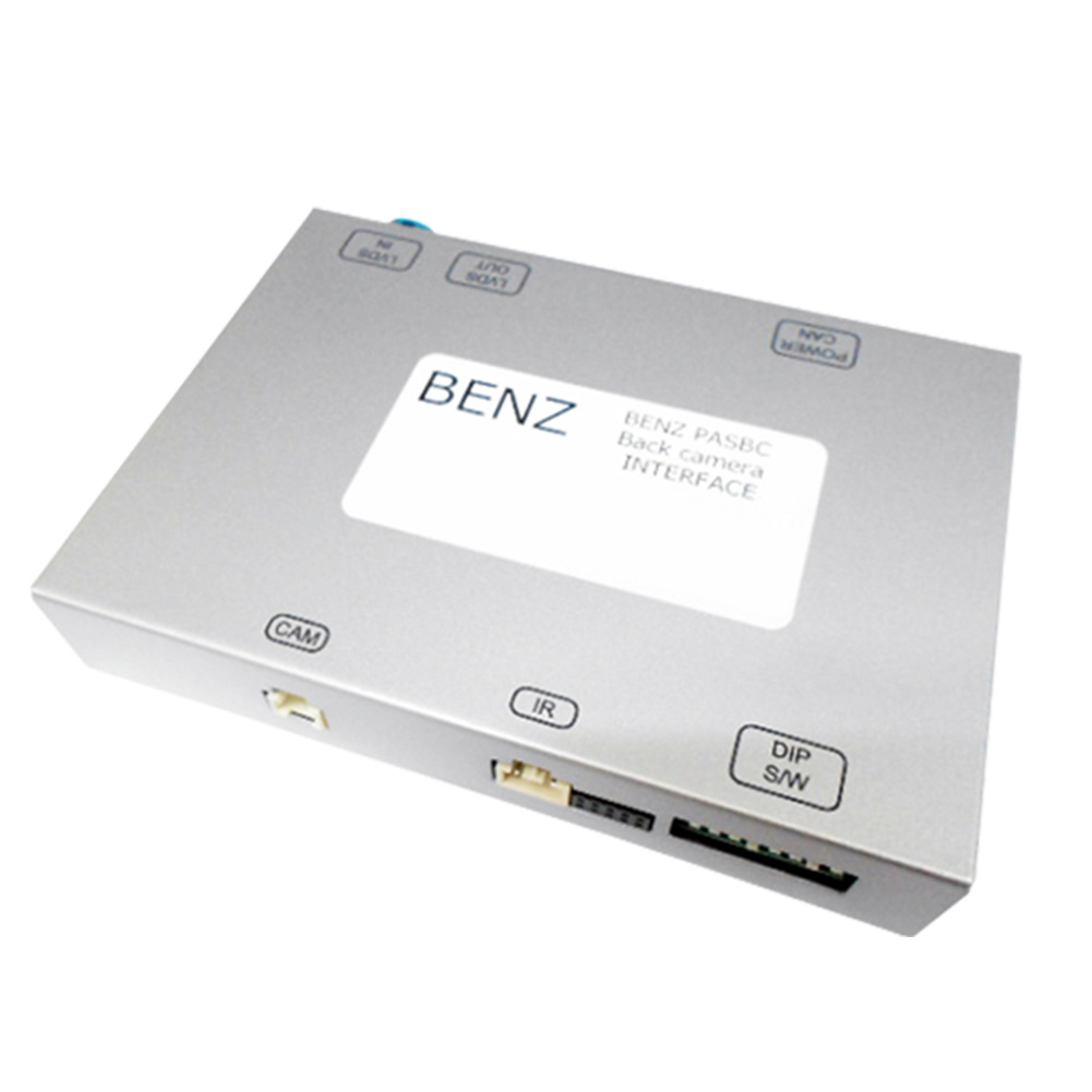 純正モニターにバックカメラ画像の後付商品の画像を割り込まして映写する機器です。  BENZ PAS BC05 Eクラス W212 (2012 05以降) Mercedes Benz メルセデス ベンツ BENZ PAS-BC AVインターフェイス 国内メーカー製 (インターフェイス 地デジ 割り込み 純正モニター )