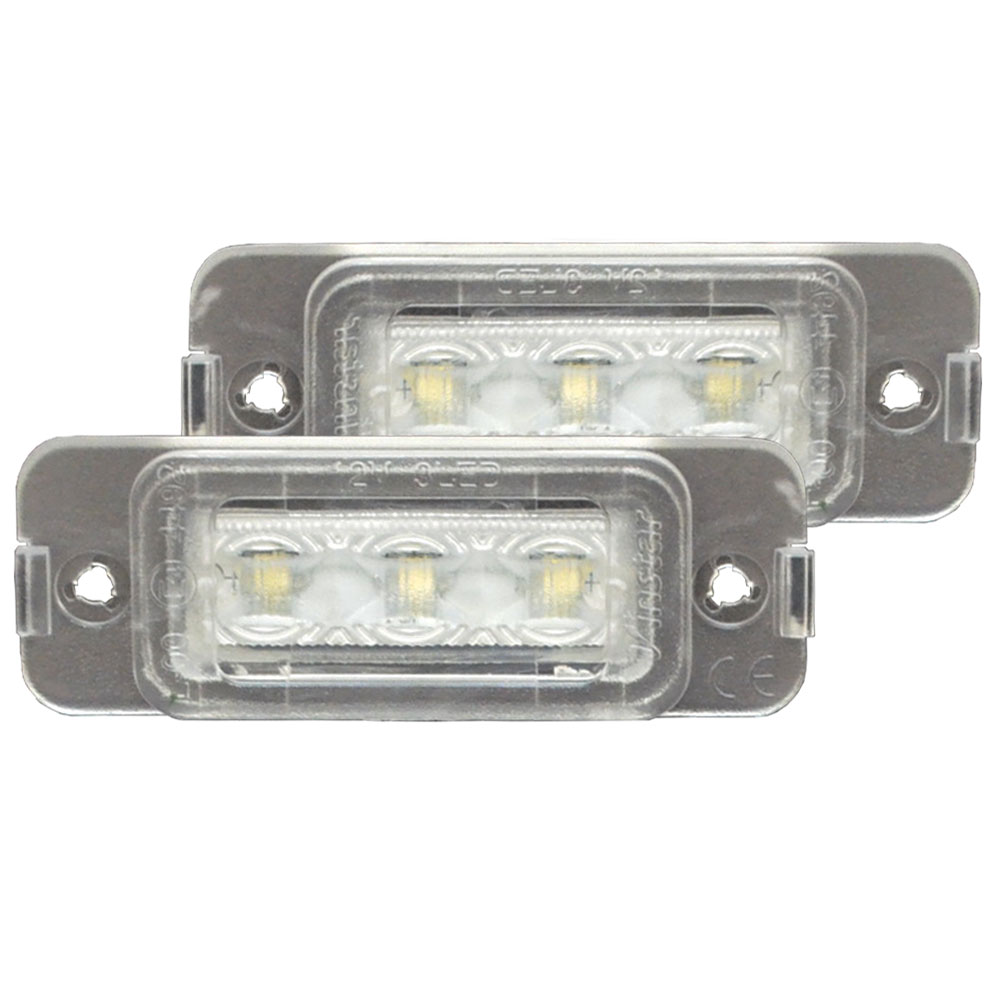 LL-BZ-K02 GLクラス X164 LED ナンバー灯 LED ライセンス ランプ Mercedes Benz メルセデス ベンツ (カー アクセサリー ドレスアップ ナンバーライト ナンバー)