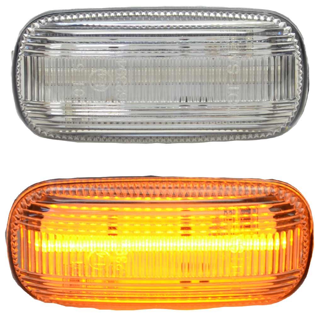 ll-au-smb-cr07 クリアーレンズ RS6 C5(Typ 4B 2003-2005 H15-H17) LEDサイドマーカー AUDI アウディ( カスタム パーツ 車 アクセサリー カスタムパーツ ウインカー LED ウィンカー サイドウインカー ストップランプ 車用品 )