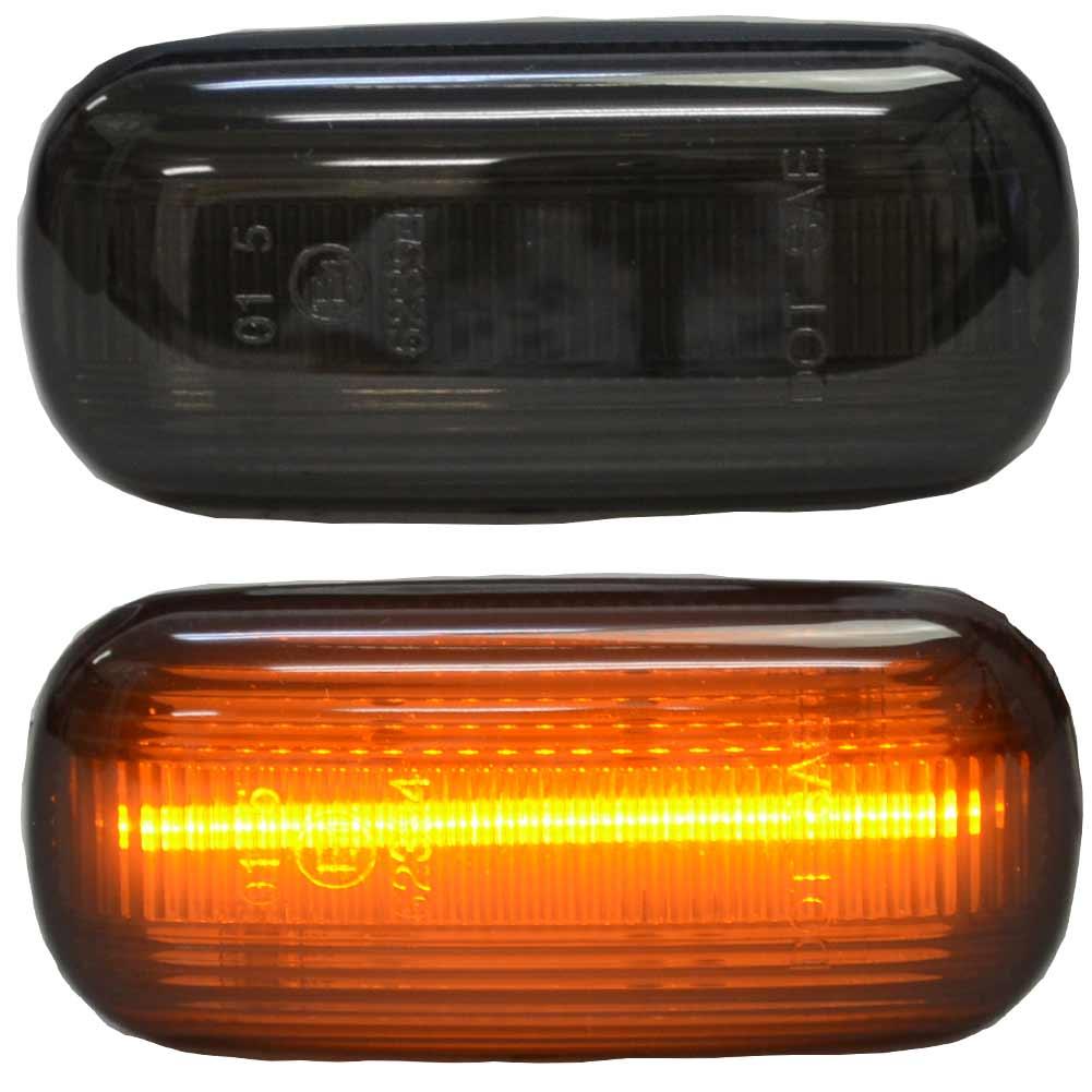 ll-au-smb-sm03 スモークレンズ A3(Typ 8P前期 2004-2008 H16-H20) LEDサイドマーカー AUDI アウディ(カスタム パーツ 車 アクセサリー カスタムパーツ ウインカー LED ウィンカー ランプ 車用品 ドレスアップ スモーク サイドウインカー)