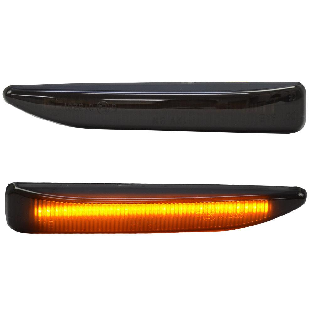 ll-bm-smg-sm01 スモークレンズ 7シリーズ E65 E66 LEDサイドマーカー LEDウインカー 純正交換 BMW( パーツ カスタム カスタムパーツ ウインカー ウィンカー サイド マーカー マーカーレンズ レンズ サイドマーカー スモーク カー用品 )