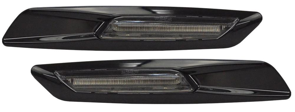 LL-BMSM-B53SM ブラックボディ&スモークレンズ LED サイドマーカー BMW F10ルック 5シリーズ E60 E61 レーシングダッシュ製 ( ウィンカー カスタム 改造 パーツ 車 led ウインカー アクセサリー グッズ サイドマーカーランプ)