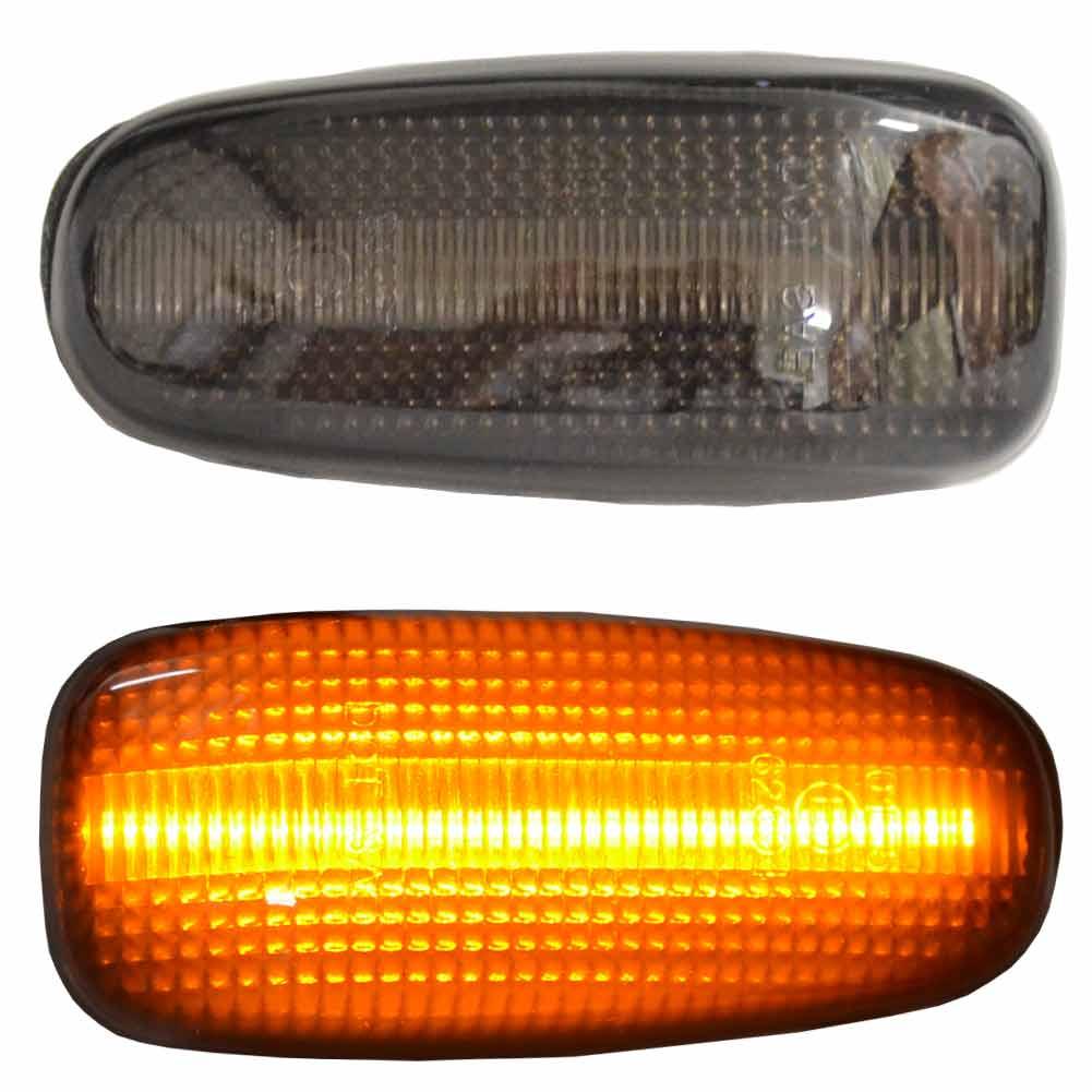ll-bz-smg-sm05 スモークレンズ Vクラス W638(1998-2003 H10-H15) LEDサイドマーカー BENZ ベンツ( カスタム パーツ 車 アクセサリー カスタムパーツ ウインカー LED ウィンカー ランプ 車用品 ドレスアップ サイドウインカー スモーク )