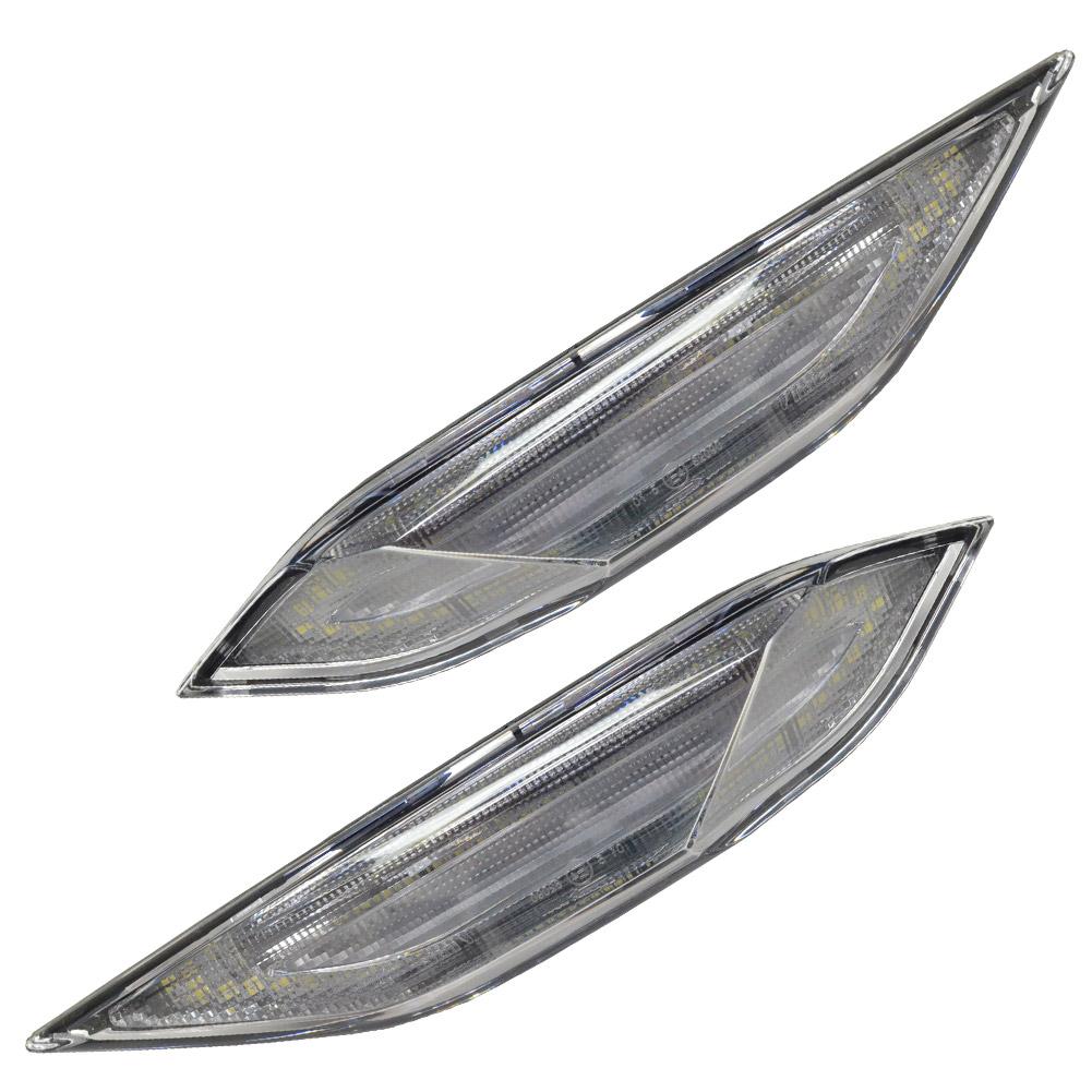 LL-PO-SMA-CR01 クリアレンズ LED デイライト & サイドマーカー Porsche ポルシェ Cayenne カイエン 958型(2011-2015)ウインカーランプ(ポルシェ LED DRL デイライト カイエン LEDウインカー カスタムパーツ カスタム 車用 車用品 パーツ)