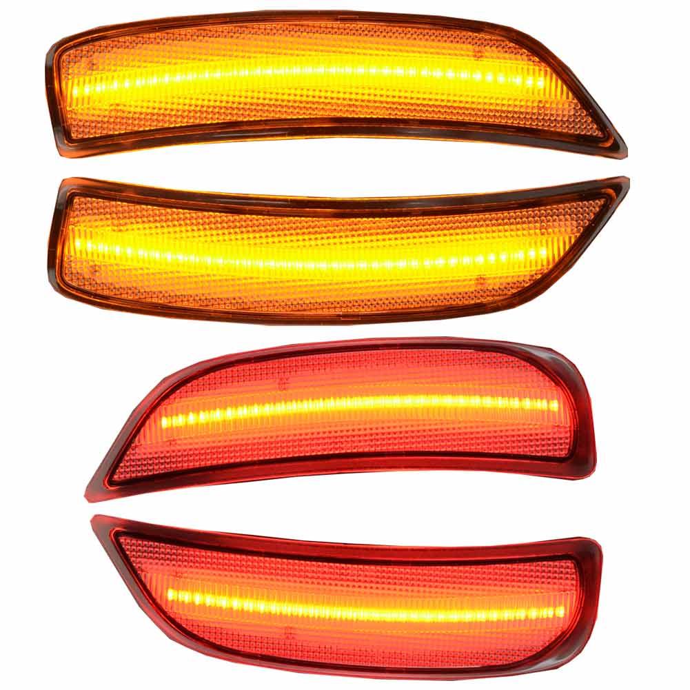 ll-ma-rsa-cr01 クリアレンズ Roadster ロードスター(ND系 H27.05以降 2015.05以降) LEDサイドマーカーフロント&リア マツダ MAZDA(ウィンカー カスタム サイドマーカー パーツ カスタムパーツ ウインカー マーカーランプ led マーカー)