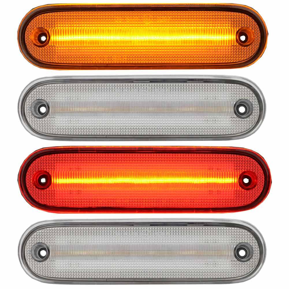 明るさや種々の警告灯回避を可能にするため、汎用バルブではなく車種別設計にしました。(カー用品 車用品 カスタム カーパーツ カスタムパーツ 部品 ランプ カー用品 ランプ) ll-ma-smc-cr02 クリアーレンズ Roadster ロードスター (NB系 H10.01-H17.08 1998.01-2005.08) フロントリアセット LEDサイドマーカー マツダ MAZDA ( カスタム パーツ 車 ウインカー ウィンカー マーカーレンズ マーカー 車用品 外装 )