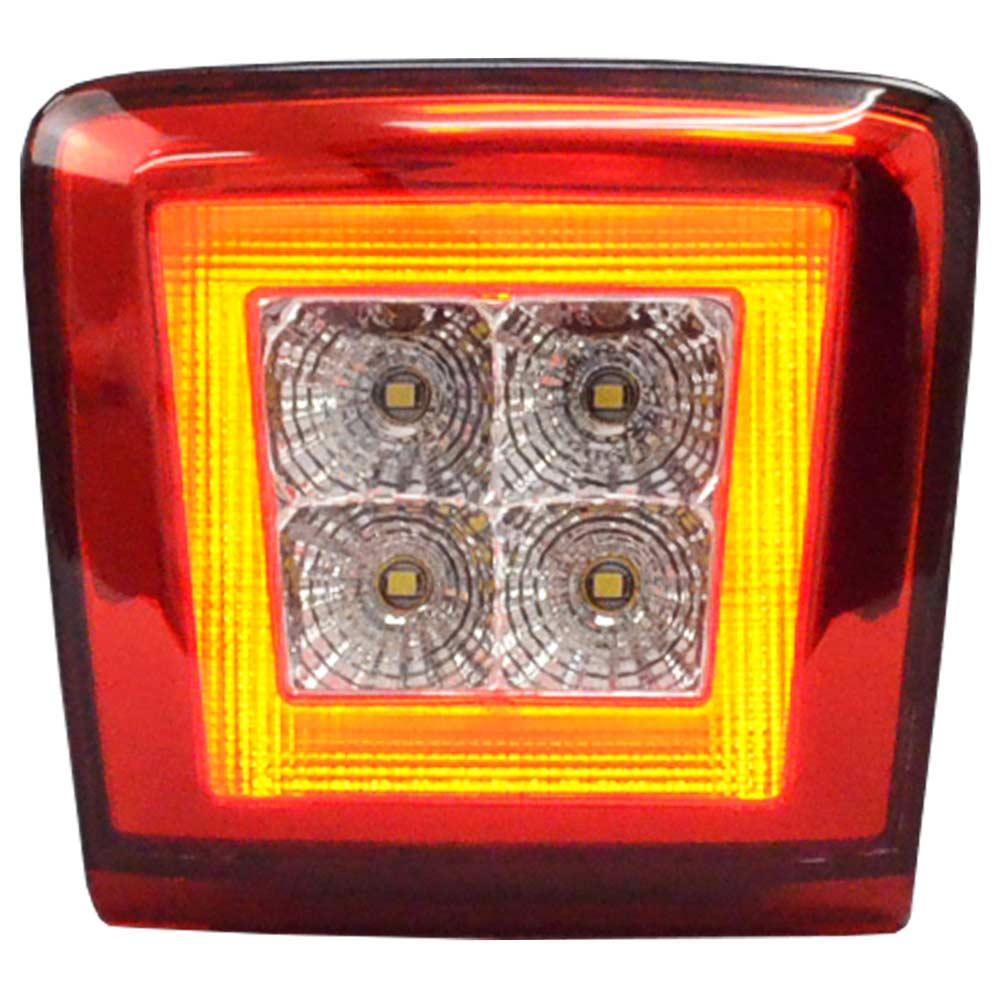 ll-ni-bua-cr02 クリアーレンズ Cube キューブ (E12型後期 H26.10以降 2014.10以降) 日産専用 LED リアフォグ&バックランプ 高輝度8LED ( カスタム パーツ カスタムパーツ 日産 リアフォグ nissan リアフォグランプ 車 アクセサリー )