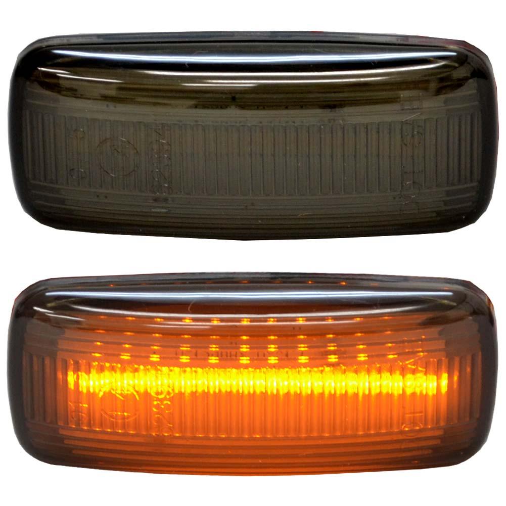 ll-cr-smc-sm04 スモークレンズ Chrysler クライスラー300 (LX系 2005-2006 H17-H18) LEDサイドマーカー LEDウインカー 純正交換 ( カスタム パーツ カスタムパーツ サイドマーカー ウィンカー 車用品 車パーツ ledウィンカー )
