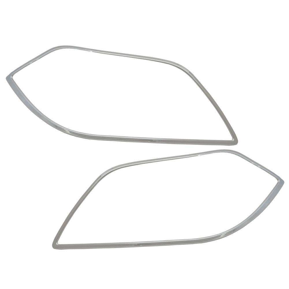 ri-mb321-01 ヘッドライト用 GLクラス X166(2013以降 H25以降)MercedesBenz メルセデスベンツ クロームメッキランプトリム ガーニッシュ カバー (カスタム パーツ ベンツ メッキ カスタムパーツ ヘッドライト 用品 自動車 バイク用品)