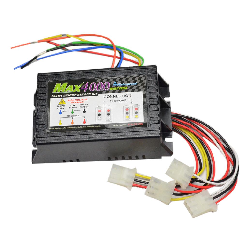 ST-MAX-TRANS MAX4000ヘッドライトストロボ専用電源BOX 修理パーツ (本格 激眩 ストロボライト 電源 カーアクセサリー 補修用品 ストロボ パーツ)