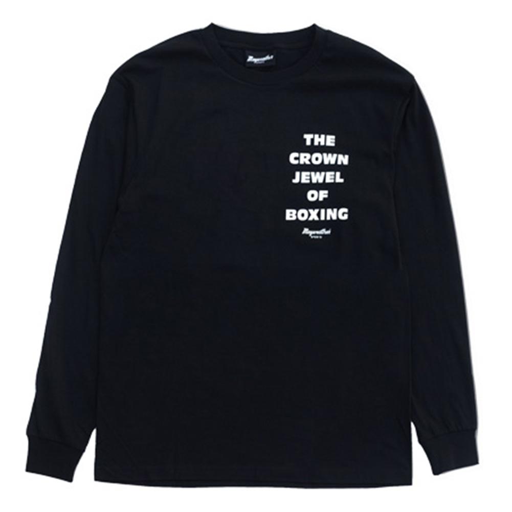 may-ms01bk メイウェザースポーツ Mens Crown Jewel Longsleeve ロングTシャツ 黒 ブラック MAYWEATHER SPORTS(フロイド・メイウェザー・ジュニア ボクシング メイウェザー WBA WBC メンズ tシャツ ティーシャツ ティシャツ)