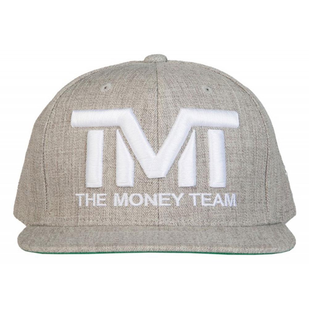 tmt-h006-3ew THE MONEY TEAM ザ・マネーチーム COURTSIDE (灰色ベース&白ロゴ)刺繍ロゴ キャップ ザ・マネーチーム フロイド・メイウェザー ボクシング 男性用 女性用 メンズ レディース THE MONEY TEAM WBC WBA(tmt tmtキャップ キャップ スナップバック)