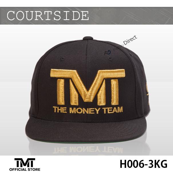 THE MONEY TEAM这个钱组■COURTSIDE盖子■钱标识&黑基础■刺绣■(帽子弗罗伊德·梅夷天气人盖子帽子人TMT盖子嘻哈舞蹈)