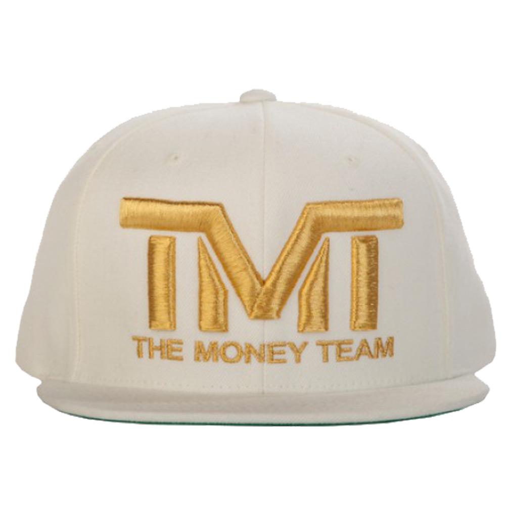 tmt-h006-3wg THE MONEY TEAM ザ・マネーチーム COURTSIDE GOLD 白ベース&金ロゴ(フロイド・メイウェザー TMT キャップ ボクシング グッズ おしゃれ 帽子 メンズ ブランド スナップバックキャップ アメカジ ぼうし アジャスター 自動車)