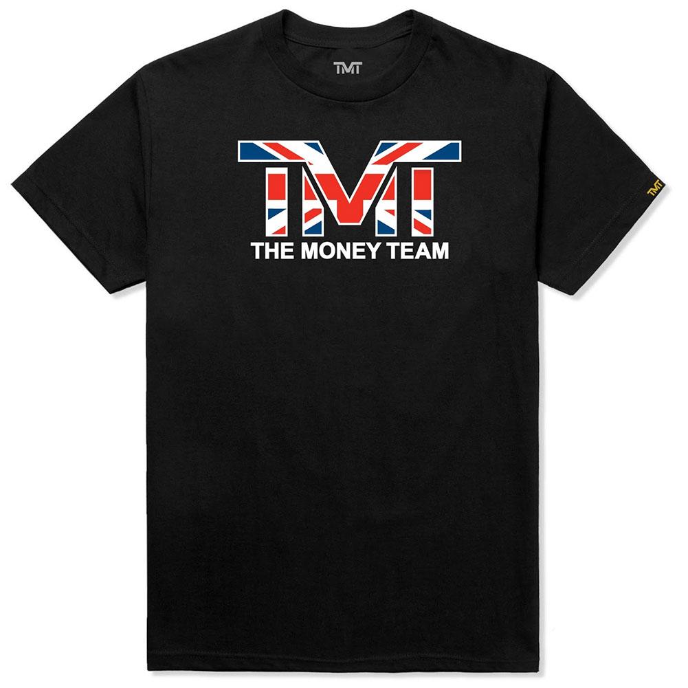 tmt-ms026-2kc ザ・マネーチーム TシャツTMT UK 黒ベース×イギリス国旗 フロイド・メイウェザー ボクシング 男性 メンズ ブラック プリント 国旗 THE MONEY TEAM TMT WBC WBA( かっこいい グッズ メイ ウェザー メイウェザー )