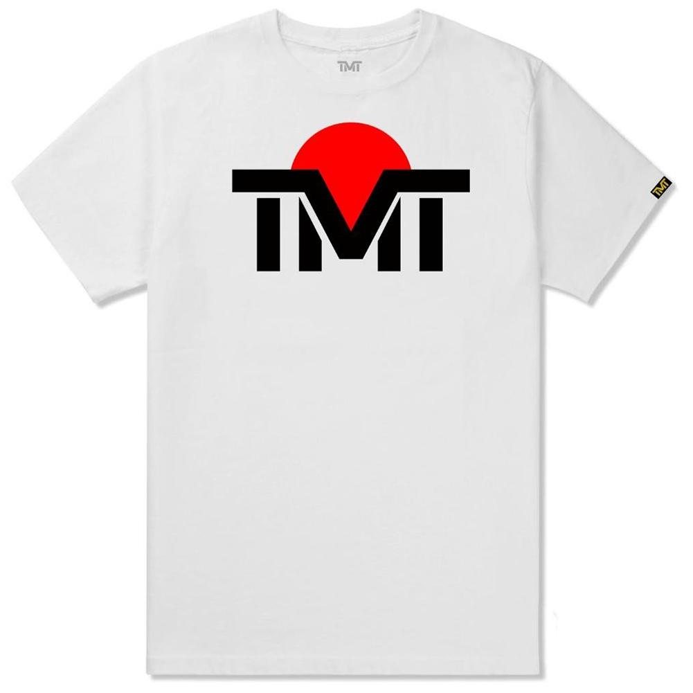 tmt-ms121-2wc ザ・マネーチーム TシャツTMT JAPNA 白ベース×黒ロゴ フロイド・メイウェザー ボクシング 男性 メンズ ブラック プリント アメリカ 国旗 THE MONEY TEAM TMT WBC WBA( グッズ かっこいい ティーシャツ 格闘技 )