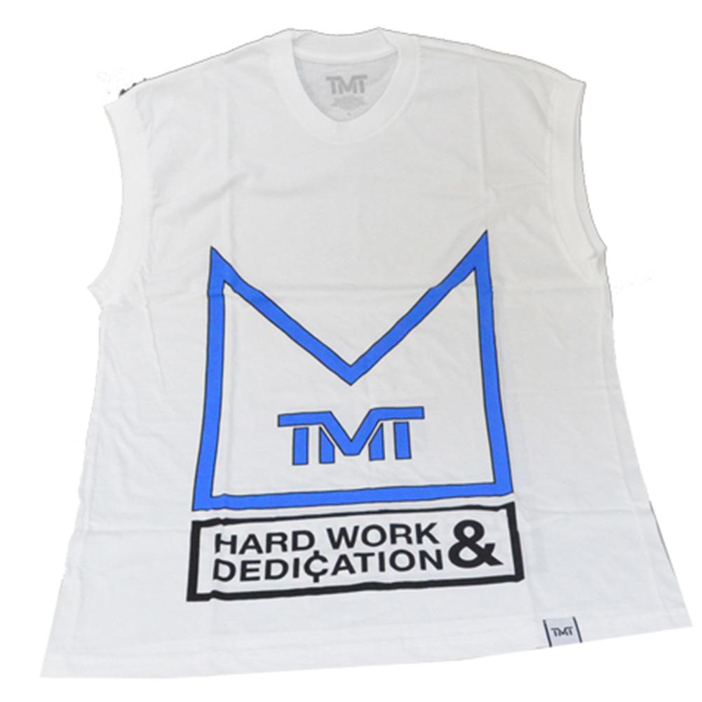 tmt-s016-3kn THE MONEY TEAM ザ・マネーチーム CROWN MY WORK タンクトップ 白 (フロイド・メイウェザー・ジュニア ボクシング Floyd Mayweather WBA WBC 賞金王)(メンズ ブラック シャツ 通販 )
