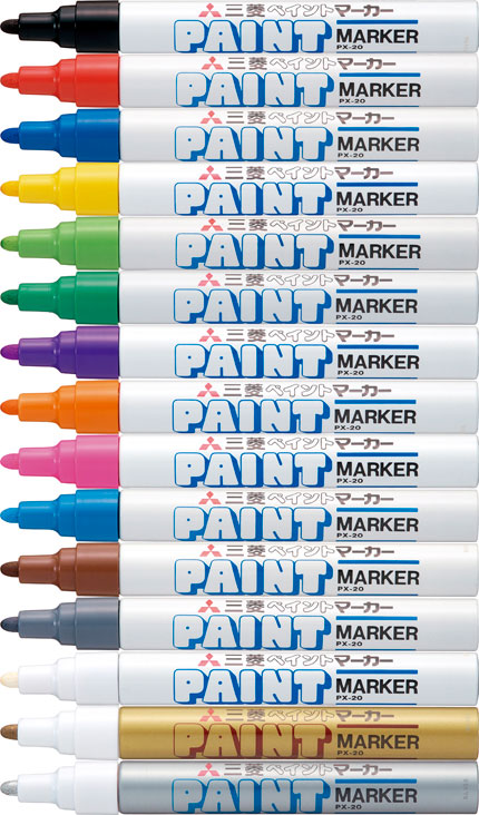 三菱 uni 油漆标记在字母表中的轮芯 PX 20