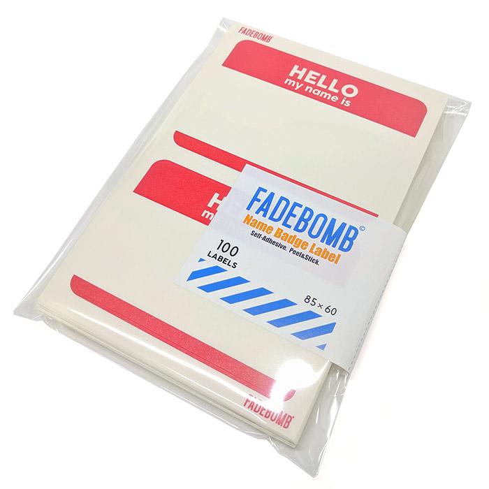 FADEBOMB Printable Name Badge Label / HELLO my neme is