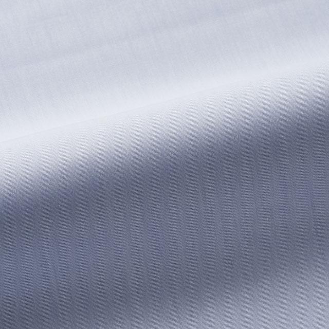 [国内縫製]トーマスメイソンジャーニー(Thomas Mason JOURNEY)で作る オーダーメイド シャツ/ブルー-無地 ビジネス ドレスシャツ 婚活 モテシャツ オーダーシャツ 紳士 ギフト 38612 クールビズ 形態安定