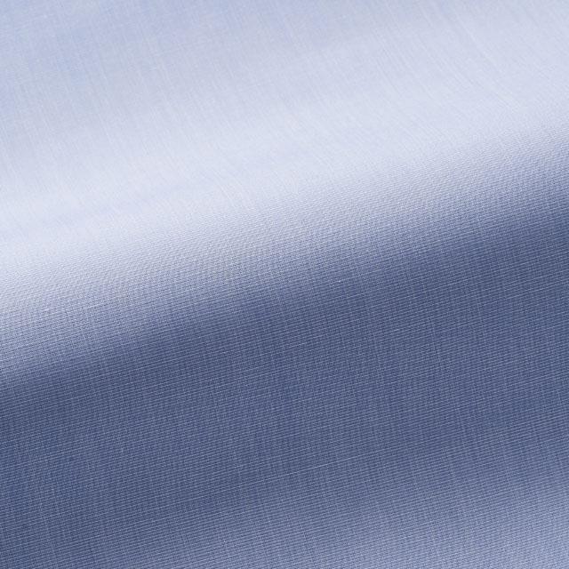 [国内縫製]トーマスメイソンジャーニー(Thomas Mason JOURNEY)で作る オーダーメイド シャツ/ブルー ハケメ ビジネス ドレスシャツ 婚活 モテシャツ オーダーシャツ 紳士 ギフト 38615 クールビズ 形態安定
