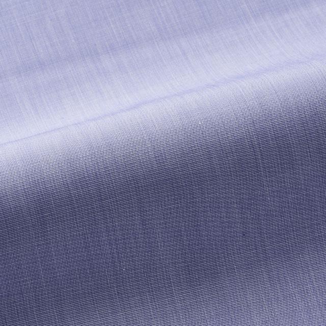 [国内縫製]トーマスメイソンジャーニー(Thomas Mason JOURNEY)で作る オーダーメイド シャツ/ブルー ハケメ ビジネス ドレスシャツ 婚活 モテシャツ オーダーシャツ 紳士 ギフト 38616 クールビズ 形態安定