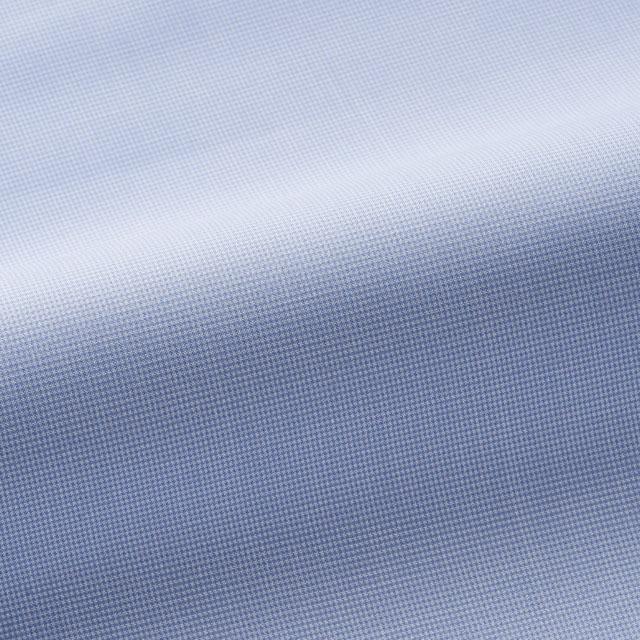 [マスクプレゼント][国内縫製]トーマスメイソン(Thomas Mason)で作る オーダーメイド シャツ/ブルー-千鳥 ビジネス ドレスシャツ 婚活 モテシャツ オーダーシャツ 紳士 ギフト 5562 クールビズ