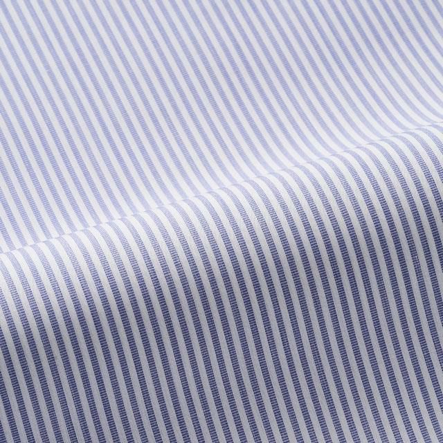 英国王家御用達の紛れもなく世界最高品質生地 ポールスミス ターンブル アッサー ブルックスブラザーズ ハイグレードブランドのシャツ生地使用 数量は多 オーダーシャツ 送料無料 国内縫製 トーマスメイソン 2020A/W新作送料無料 Thomas Mason 紳士 シャツ 婚活 ドレスシャツ ビジネス オーダーメイド ギフト モテシャツ 5570 で作る ブルー-ストライプ クールビズ