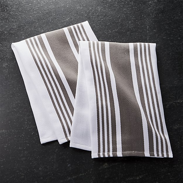 Merveilleux Crate U0026 Barrel Cuisine Stripe Grey Dish Towels Kitchen Towel Set Two Pieces  Grace Tripe Miscellaneous Goods Kitchen Stylish New York Buying