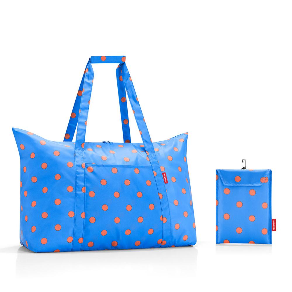 【送料無料】reisenthel Mini Maxi Travelbag Azure dotsミニマキシ トラベルバッグ 折りたたみ 可愛い 旅行 ブルー 水玉 ライゼンタール ドイツ 買付 母の日 プレゼント 2019【あす楽】【通常発送商品】【12時までのご注文で当日発送(土日・祝除く)】
