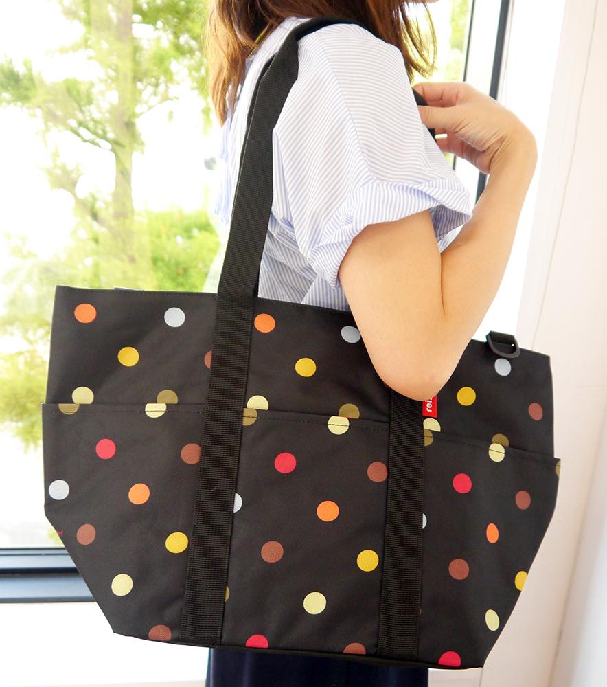 【送料無料】reisenthel Multibag dots マルチバッグ ブラック ドット 水玉 ライゼンタール ドイツ 買付【通常発送商品】【12時までのご注文で当日発送(土日・祝除く)】【店頭受取対応商品】