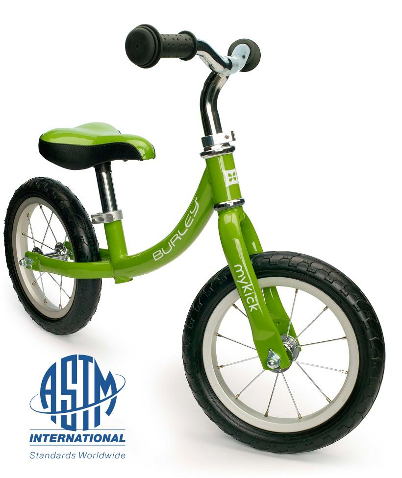 【X-masプレゼントの決定版】プレミアム・バランスバイク・マイキック<Burley MyKick>バランスバイク 3歳くらいから体重:22.8Kgまで自重:4.5Kg・Bike Fridayの思想を継ぐ、本格派ハイエンドモデル カラー:サマー・グリーン
