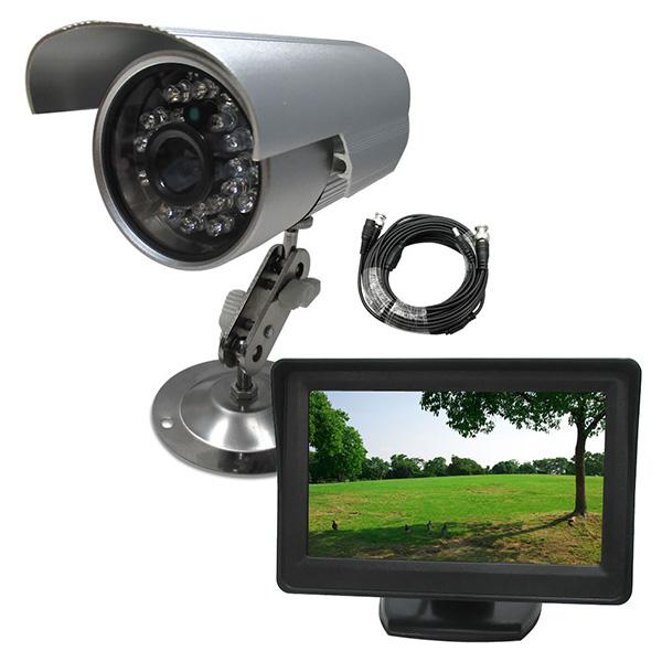 防犯カメラセット 屋外用防犯カメラSDカード録画1台+4インチモニター1台+10mケーブル1本セット 監視カメラ 防犯カメラ SDカード録画カメラ 動体検知 赤外線 お試し防犯セット 屋外設置