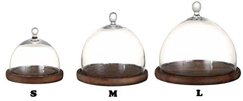 ガラスドーム 大 ガラスケース ディスプレイケース コレクションケース ケーキドーム ダルトンドームDML 木製台座付き Lサイズ
