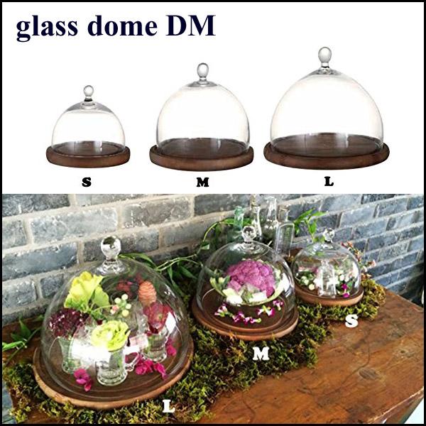 ガラスドーム ガラスケース ディスプレイケース コレクションケース ケーキドーム ダルトンドームDML 木製台座付き Lサイズ