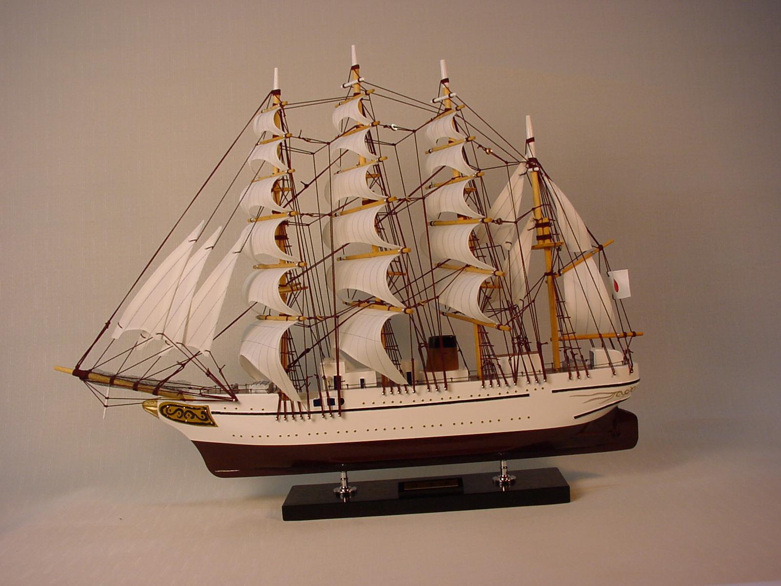 帆船模型 モデルシップ (完成品) No 131 日本丸 新築祝 開業祝 お祝い 門出【楽ギフ_のし】【楽ギフ_メッセ入力】