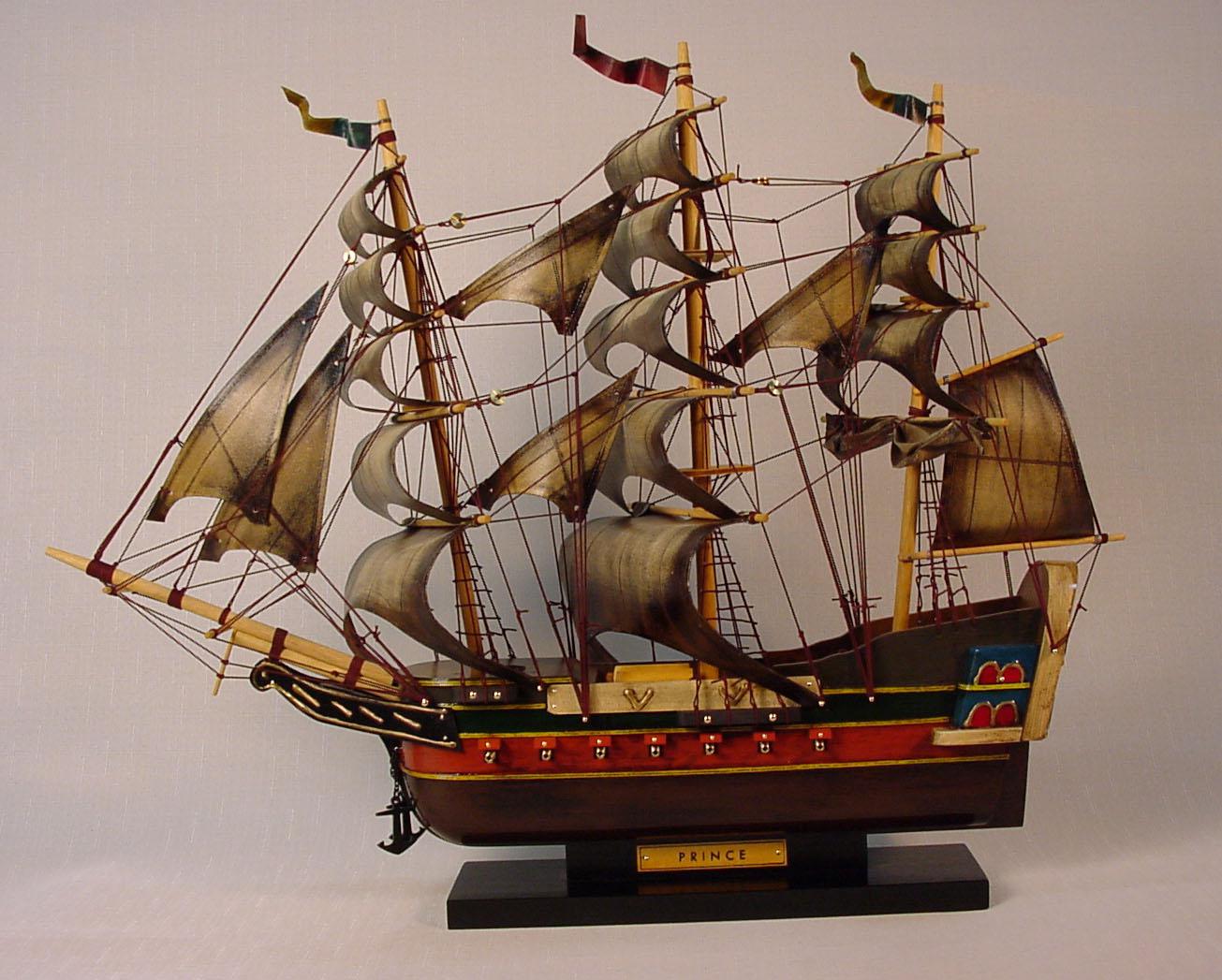 帆船模型 モデルシップ (完成品) No208 プリンス 新築祝 開業祝 お祝い 門出【楽ギフ_のし】【楽ギフ_メッセ入力】