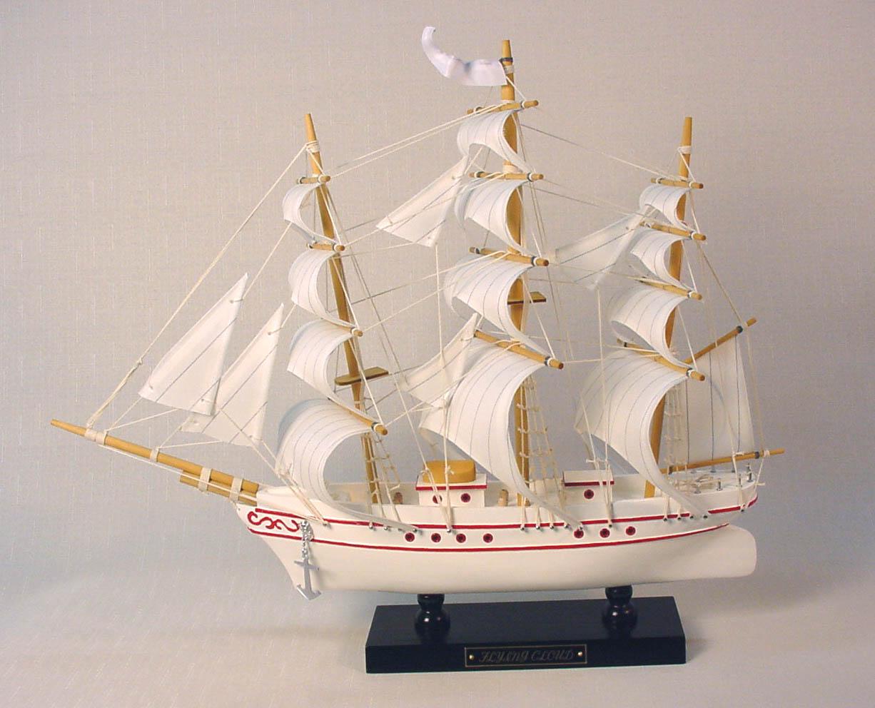 帆船模型 モデルシップ (完成品) No231 フライングクロード(ホワイト) 新築祝 開業祝 お祝い 門出【楽ギフ_のし】【楽ギフ_メッセ入力】