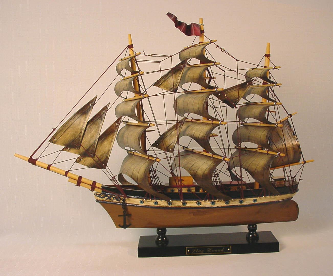 帆船模型 モデルシップ 完成品 HA-237 スタッグハンド アンティーク 新築祝 開業祝 お祝い 門出【_のし】【_メッセ入力】
