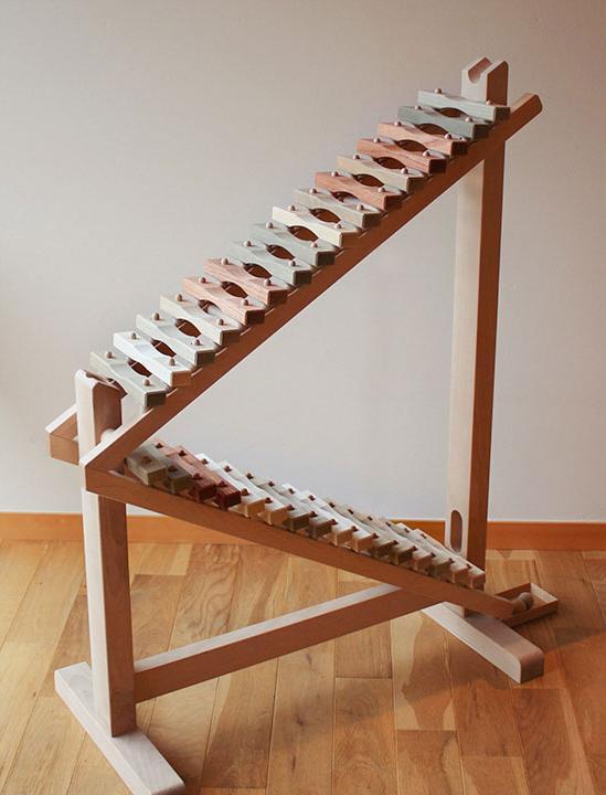 Oak Village(オークヴィレッジ)『森のコロコロ合唱団 どんぐりころころ』   日本製 木製 無垢 ホビー 木琴 売上の一部が森づくりに活かされます。