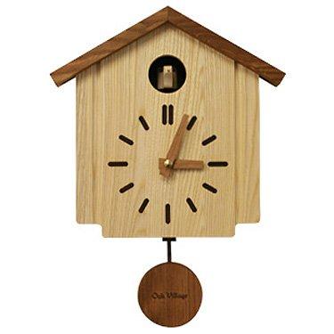 売上の一部が森づくりに活かされます Oak Village オークヴィレッジ カッコークロック 日本製 木製 無垢 カッコウ 新着 かっこう まで ご注文で当日配送 掛け時計 リビング 2021年7月31日 かっこー