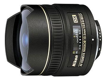 ニコン AF DX Fisheye-Nikkor ED 10.5mm F2.8G