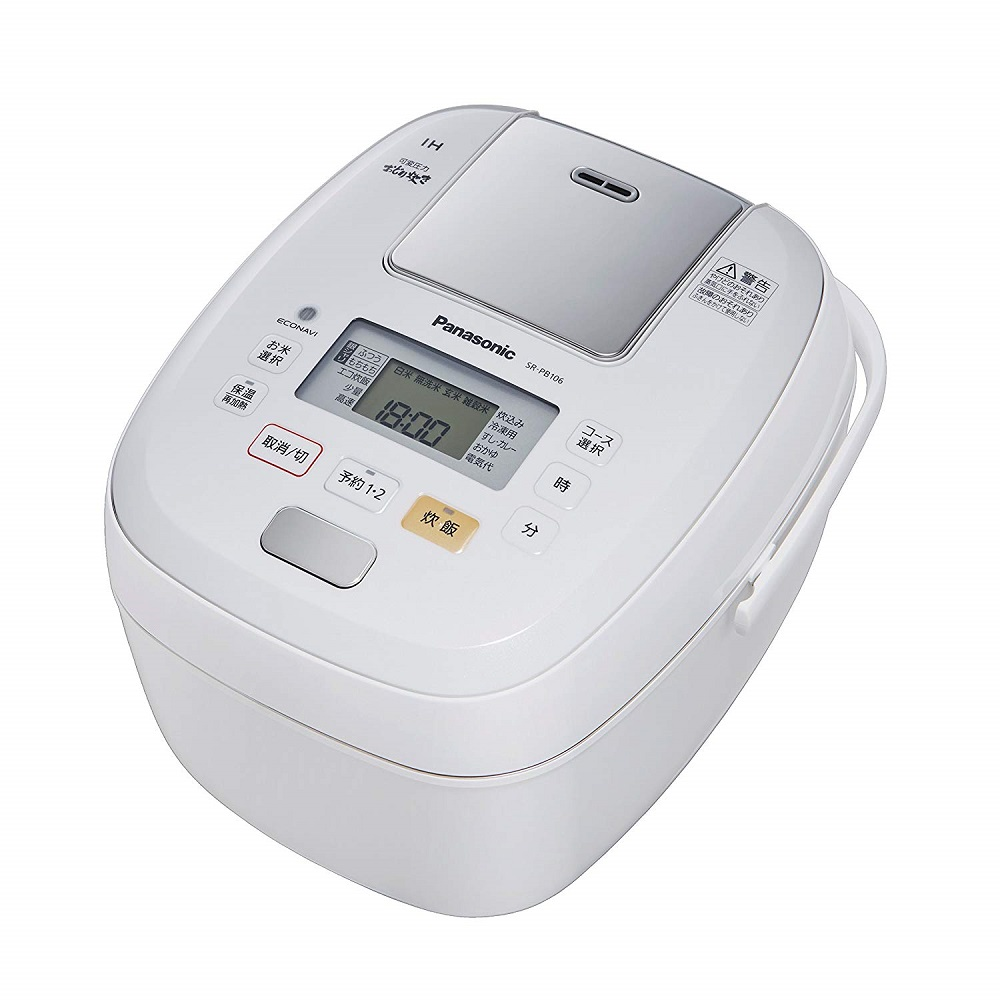 パナソニック 炊飯器 5.5合 おどり炊き 圧力IH式 ホワイト SR-PB106-W