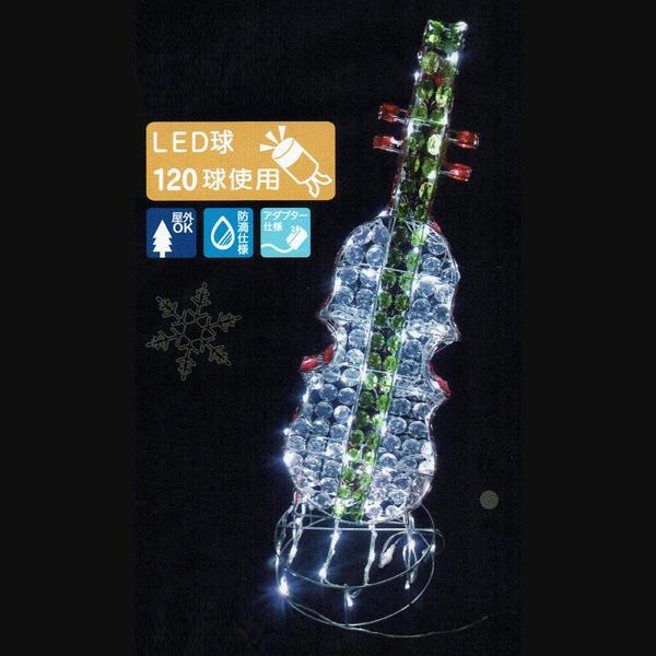 LEDクリスタルモチーフ バイオリンビース イルミネーション