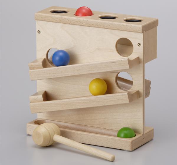 知育玩具 訓練 おもちゃ 木製パウンド ザ 低価格 ボール落とし ボール 大規模セール