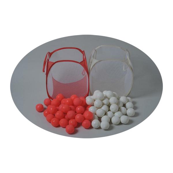 玉入れ 球 紅白 ソフトタイプ 収納カゴ付き 各色50個計100個入り