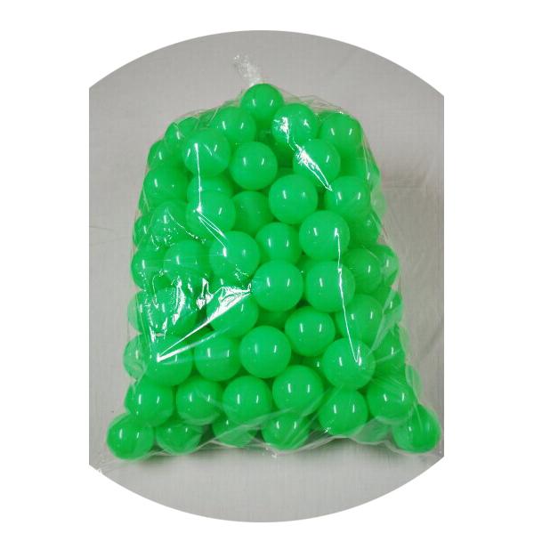 ボールプール用ポリボール500個入り 緑色