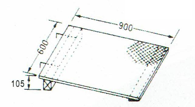 巧技台ワイド用 ワイド斜面板(カーペット張り)