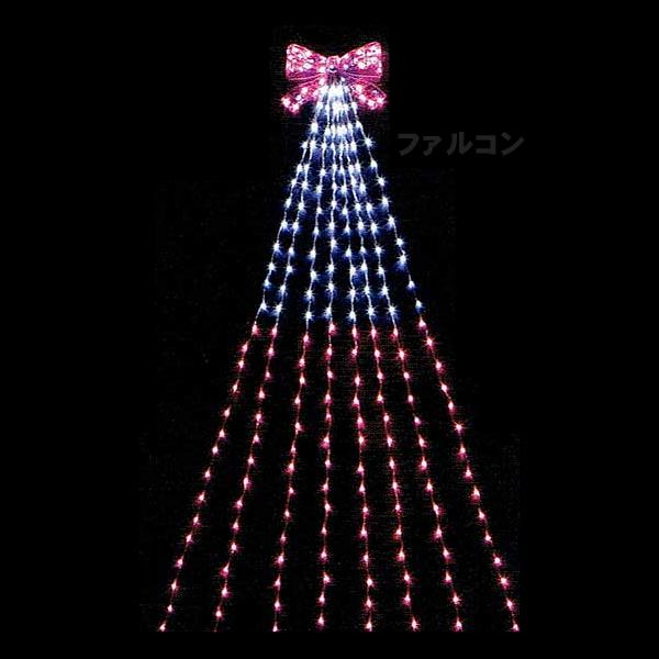LEDナイアガラライトDXピンクリボン 5m