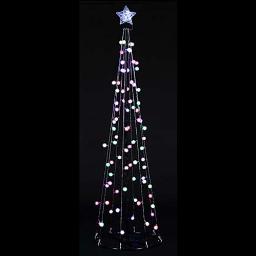 LEDボールツリー マルチスノー 180cm